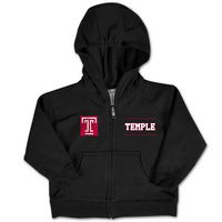 Temple College Kids Toddler Full Zip Hoodie