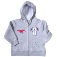 SMU Mustangs College Kids Toddler Full Zip Hoodie