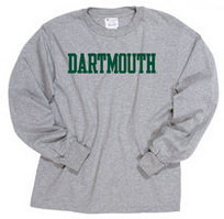Champion Youth Long Sleeve Dartmouth Big Green TShirt