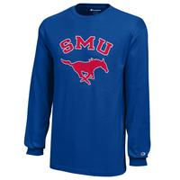 SMU Mustangs Champion Youth Long Sleeve T-Shirt