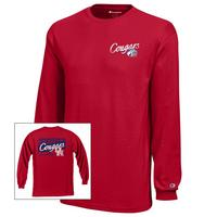 Houston Cougars Champion Youth Long Sleeve TShirt