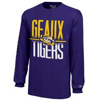 LSU Tigers Champion Youth Long Sleeve TShirt