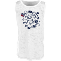 Blue 84 Youth Girl Burnout Racerback Tank Top