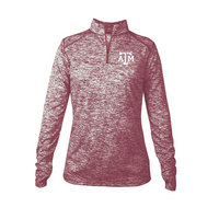 Ladies Blend Quarter Zip Pullover