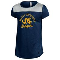 Under Armour Girls Grainy Tech Short Sleeve Tee