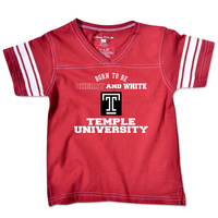 Temple College Kids Toddler Girls Football T-Shirt