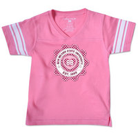 College Kids Toddler Girl Football Tee
