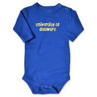 Delaware Blue Hens College Kids Infant Long Sleeve Bodysuit