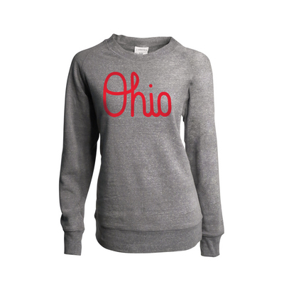Script Ohio Womens Triblend Fleece