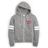 Red Shirt Full Zip Hoodie