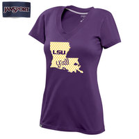 LSU Tigers Jansport Womens Darcy VNeck Tee