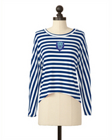 Meesh and Mia Striped Button Back Dolman