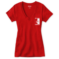 Red Shirt Short Sleeve VNeck Tee