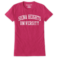 Red Shirt Womens  Short Sleeve Crew Tee