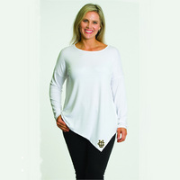 Flying Colors Relaxed Fit Asymmetric Tunic