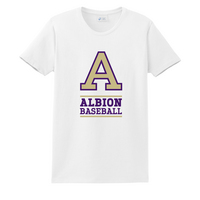 Albion College Baseball Short Sleeve Crew Neck Tee