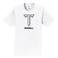 Baseball Short Sleeve Crewneck Womens Tee (Online Only)