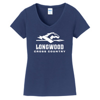 Cross Country Short Sleeve Vneck Womens Tee (Online Only)