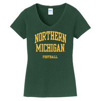 Football Short Sleeve Vneck Womens Tee (Online Only)