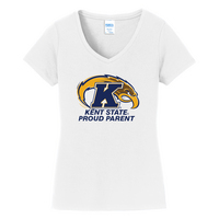 Proud Parent Short Sleeve Vneck Womens Tee (Online Only)