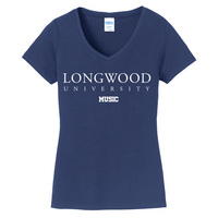 Music Short Sleeve Vneck Womens Tee (Online Only)