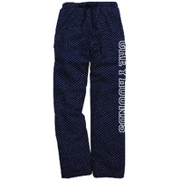 Swiss Dot Polka Dot Flannel Pants
