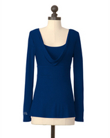 Meesh and Mia Empire Waist Cowl Neck Top