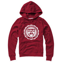 Red Shirt Womens Hooded Sweatshirt