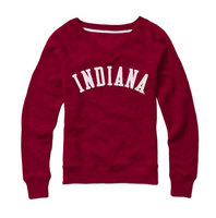 Red Shirt Womens VNeck Sweatshirt