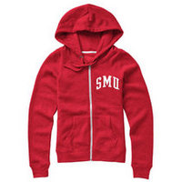 Red Shirt Womens Hooded Full Zip Sweatshirt