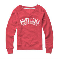 Red Shirt Womens Crewneck Sweatshirt