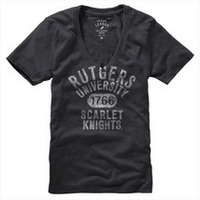 Rutgers Scarlet Knights League Women's My Favorite Tri-Blend V-T-Shirt