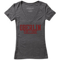 Red Shirt Womens VNeck TShirt