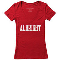 Red Shirt Womens VNeck Tee
