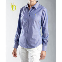 Delaware Blue Hens Cutter & Buck Womens Oxford Shirt
