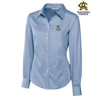 Cutter & Buck Womens Long Sleeve Royal Oxford (Online Only)