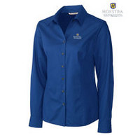 Cutter & Buck Womens Long Sleeve Easy Care Fine Twill (Online Only)