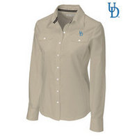 Cutter & Buck Womens Long Sleeve Blakely Hybrid Woven (Online Only)