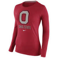 Nike Ohio State Womens Logo Long Sleeve Tee