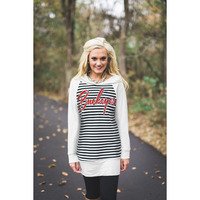 Gameday Couture Striped Tunic