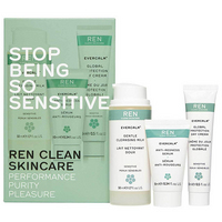 REN STOP BEING SO SENSITIVE KIT (Gentle Cleansing, Anti Redness Serum, Global Protection Day Cream)