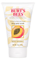 Burts Bees Peach & Willow Bark Deep Pore Scrub, 4 Ounces