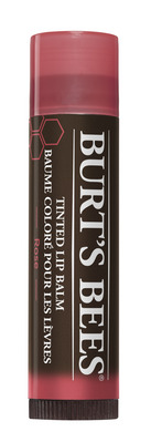 Burts Bees 100% Natural Moisturizing Tinted Lip Balm, Rose, 1 Tube
