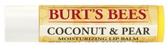 Burts Bees 100% Natural Moisturizing Lip Balm, Coconut & Pear, 1 Tube