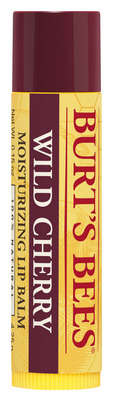 Burts Bees 100% Natural Moisturizing Lip Balm, Wild Cherry, 1 Tube