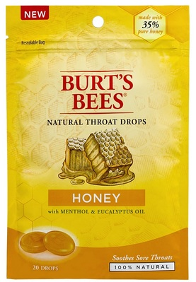 Burts Bees 100% Natural Throat Drops, Honey, 20 Count