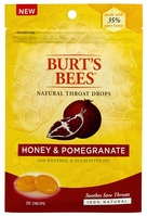 Burts Bees 100% Natural Throat Drops, Honey and Pomegranate, 20 Count