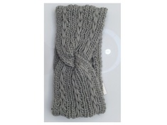 Solid Knitted Head Wrap  Grey