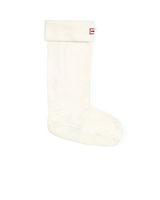 Hunter Boots Boot Sock in Cream Large