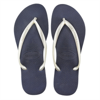 Havaianas Slim Mix Navy and White Metallic